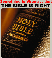 Something Is Wrong...but, The Bible Is Right!